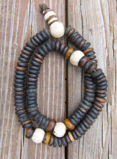 Mala Beads,Tibetan Style Default Dark Oval Bead Tibetan Mala Beads ml061