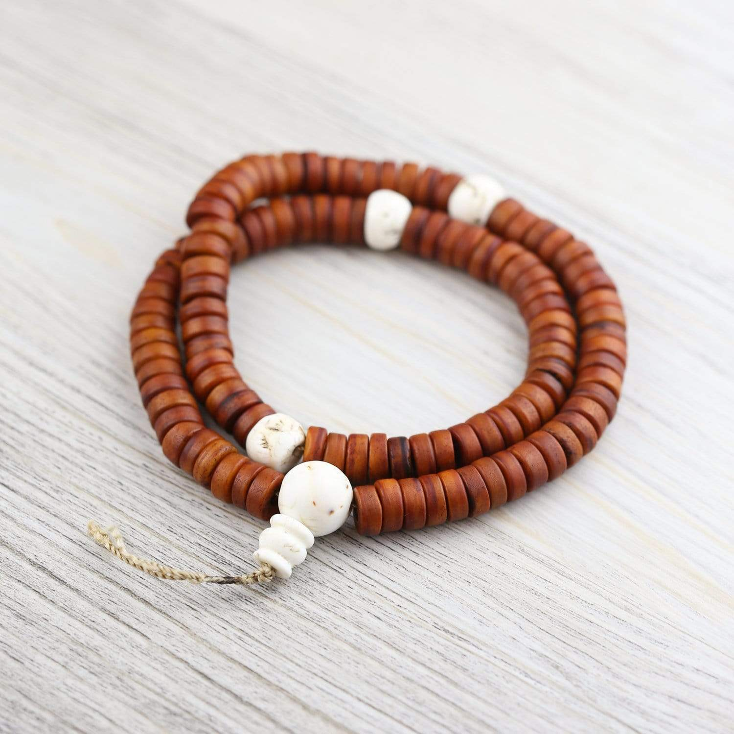 Mala Beads Traditional Bone Monk's Mala ML788