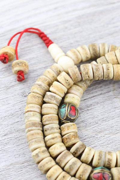 Mala Beads Traditional Himalayan Bone Mala ML652