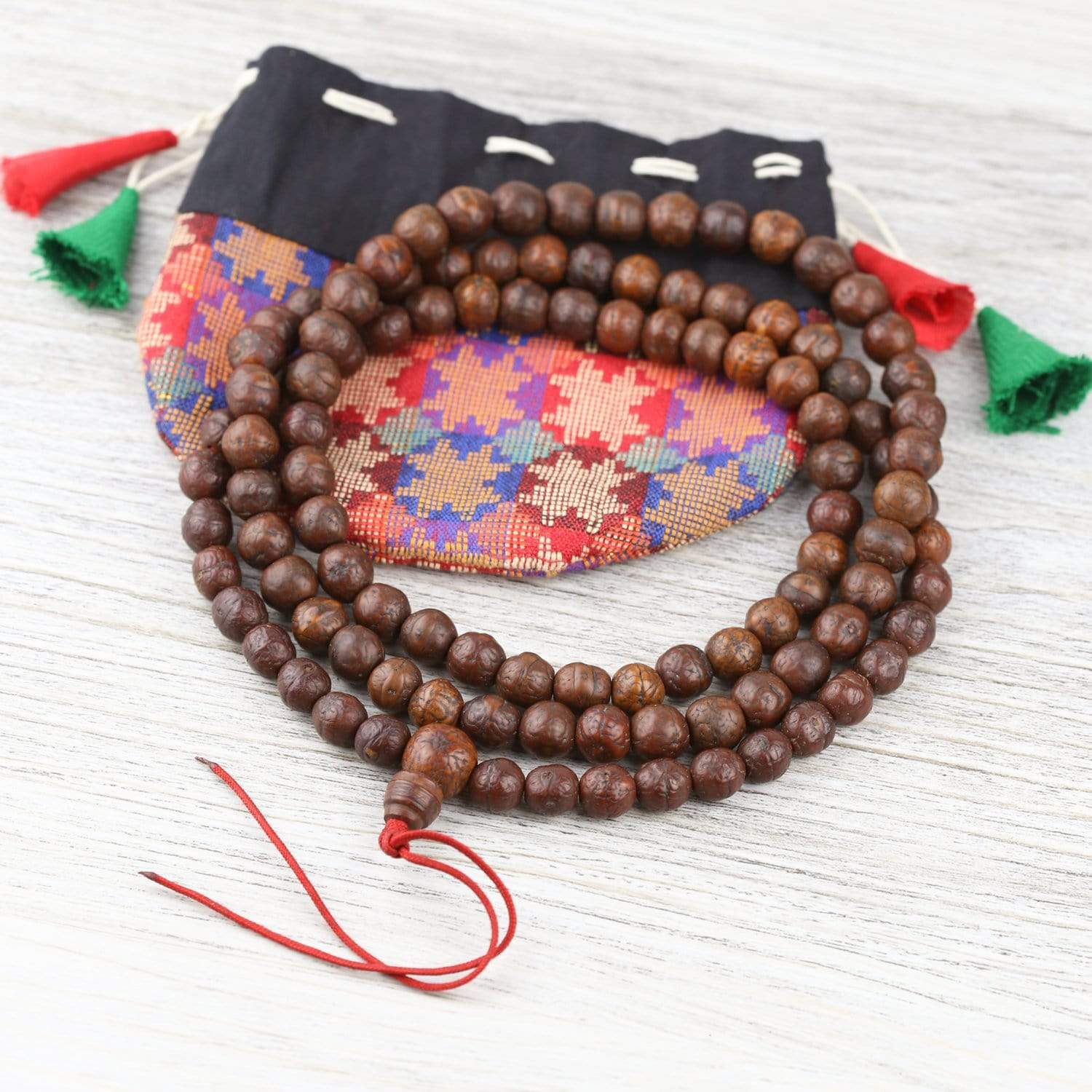 Mala Beads Traditional Tibetan Antique Bodhi Mala ML714