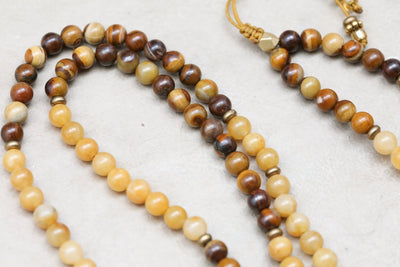 Mala Beads Warm Citrine Chakra Energy Mala ML690
