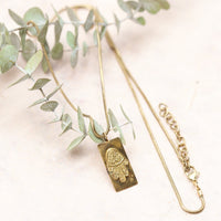 necklace Place holder name for Brass hamsa necklace JN792