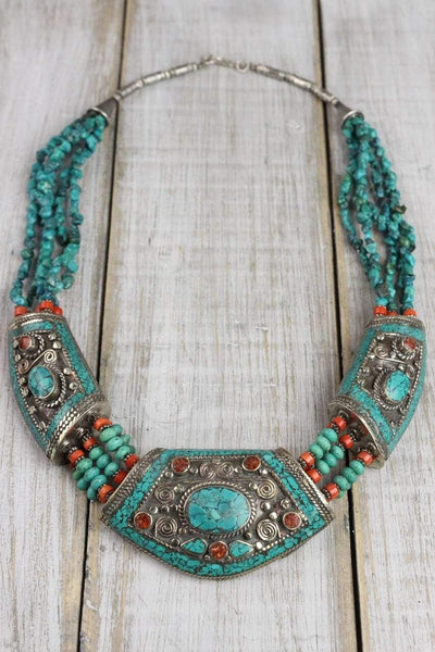 Necklaces Annapurna Peaks Turquoise Necklace JN615