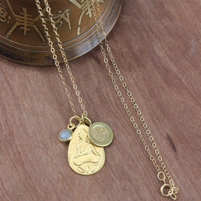 Necklaces Buddha and Om Charm Necklace JN742