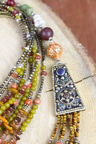 Necklaces Colorful Spirit of Nepal Necklace JN648