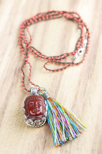 Necklaces Creative Carnelian Buddha Necklace JN654