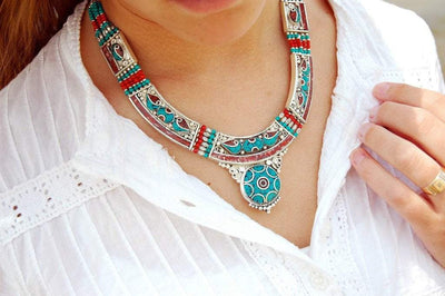 Necklaces Default A Tibetan Statement Necklace jn261