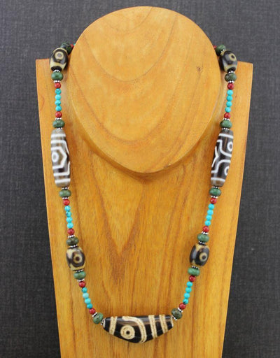 Necklaces Default Mystical Tibetan Dzi Necklace jn074