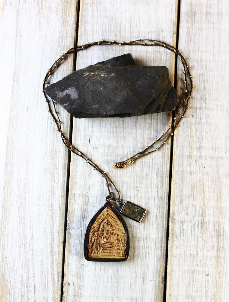 Necklaces Default Rustic Buddha Amulet Necklace jn442