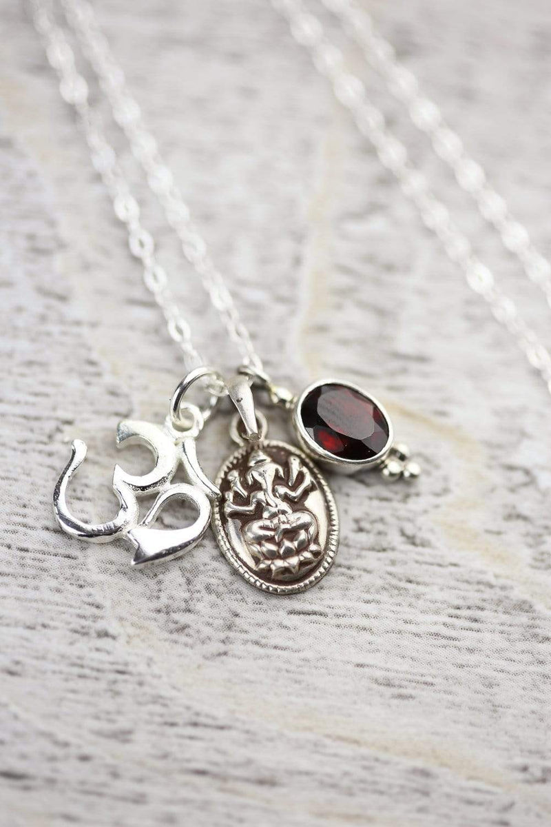 Necklaces Default Sterling Silver Om Ganesh Necklace jn162