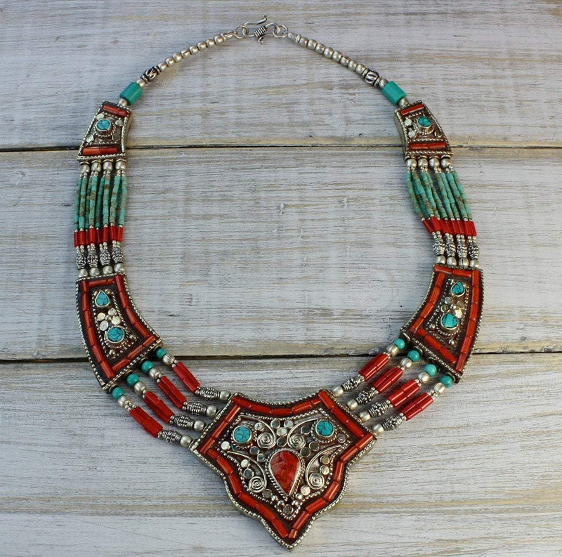 Necklaces Default Tibetan Divinity Necklace jn551