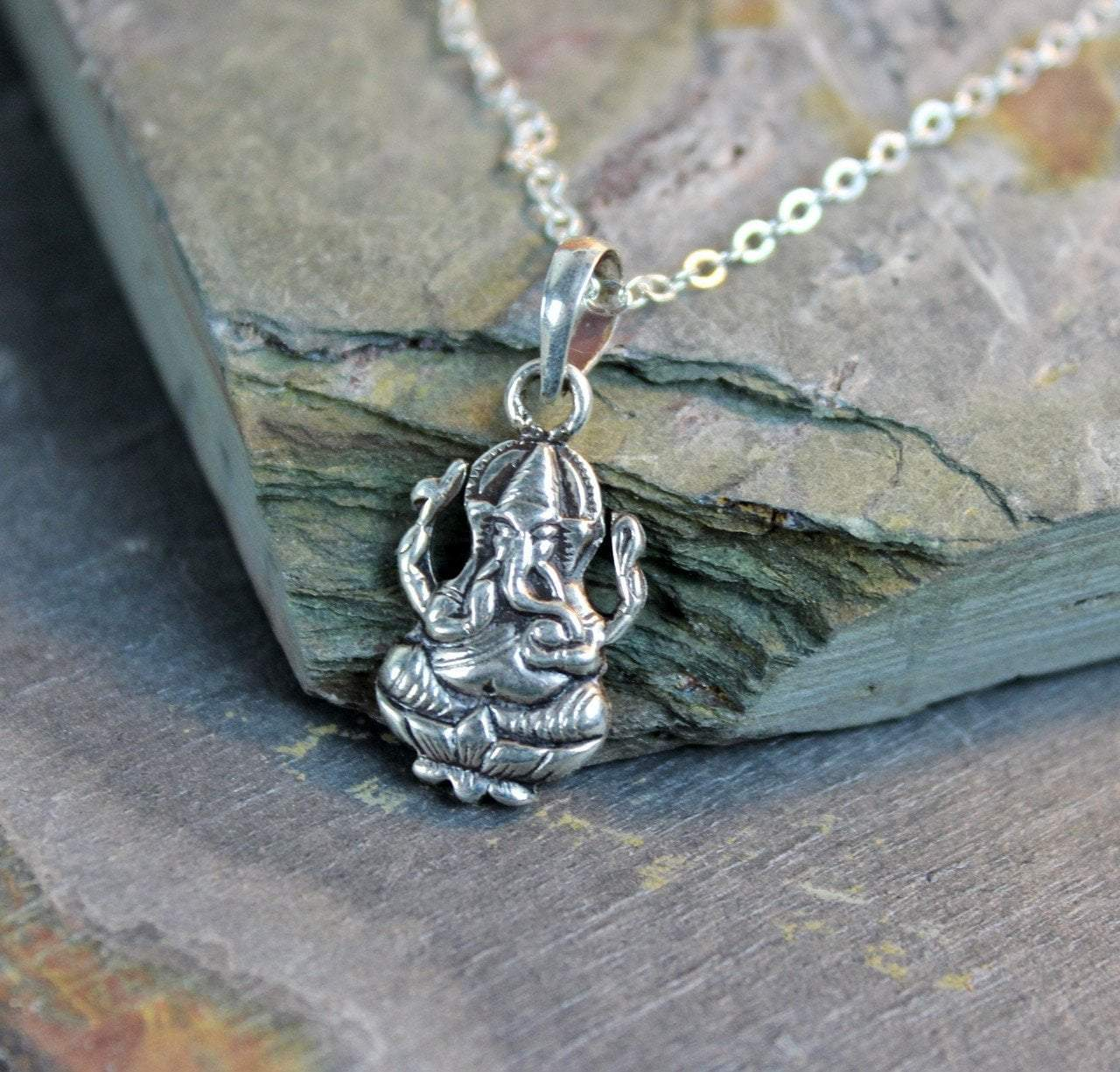 Necklaces Default Tiny Ganesh Necklace ti02
