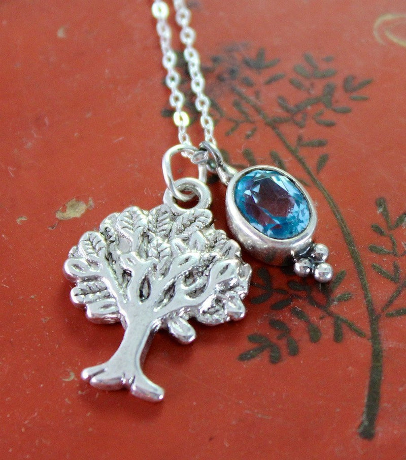 Necklaces Default Tree of Life and Topaz Necklace jn232