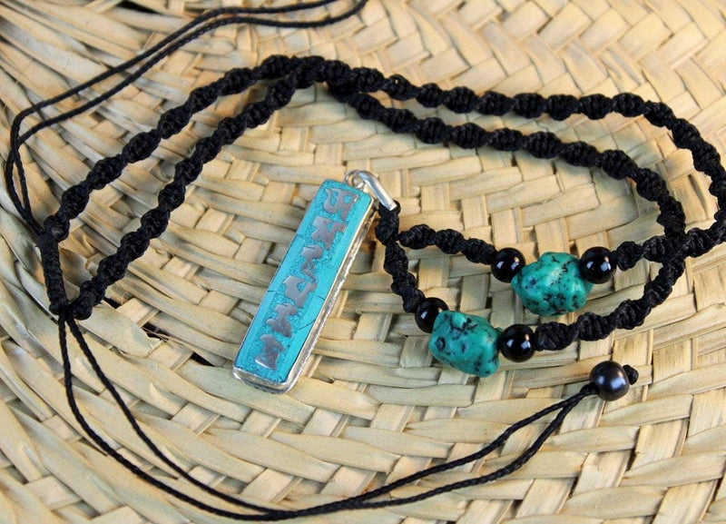 Necklaces Default Turquoise Mantra Necklace jn492