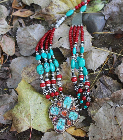 Necklaces Default Turquoise Tibetan Passion Necklace jn082