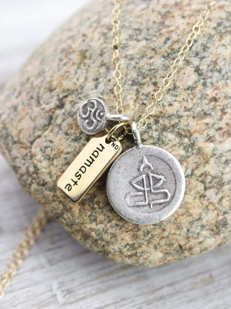 Necklaces DharmaShop Namaste Charm Necklace JN745