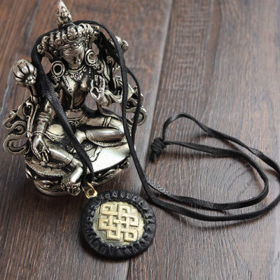 Necklaces Eternal Knot Brass Pendant Necklace JN734