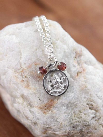 Necklaces Ganesh and Om Tiny Dharma Necklace JN695