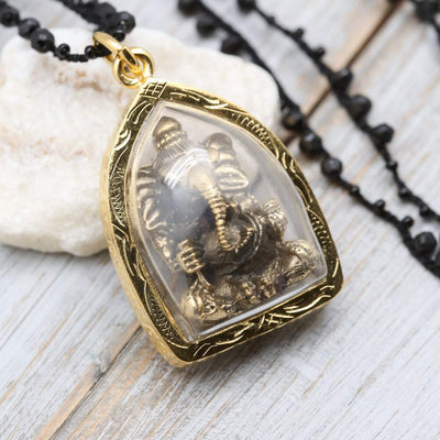 Necklaces Ganesh Powerful Wisdom Necklace jn754