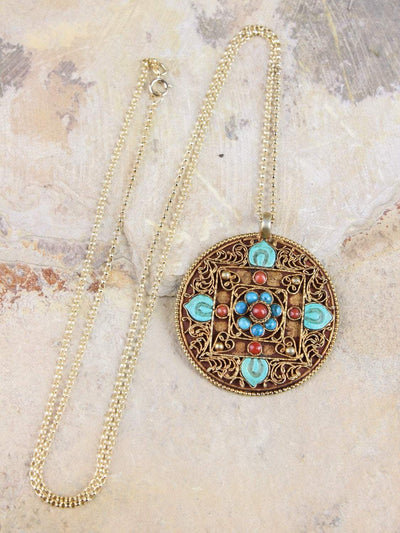 Necklaces Gold Vermeil Tibetan Expressions Necklace JN697