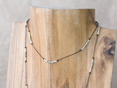 Necklaces Hill Tribe Silver Lariat Necklace JN772