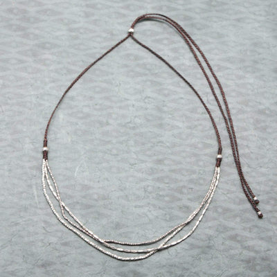 Necklaces Hill Tribe Silver Strands Necklace JN770