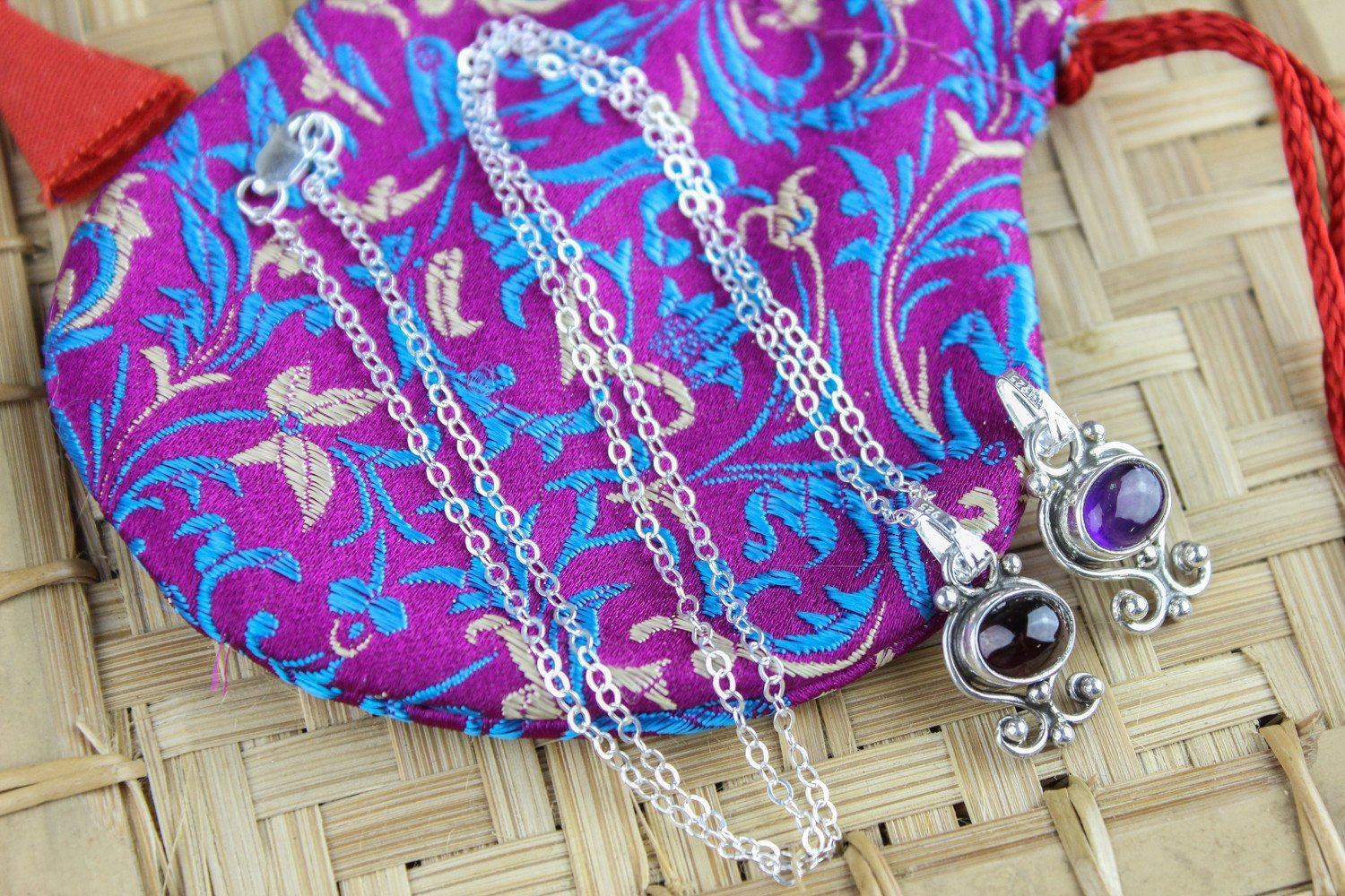 Necklaces Interchangeable Charm Necklace Set with Mala Gift Bag JN687