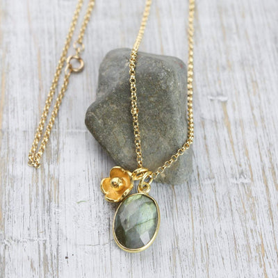 Necklaces Labradorite Chakra Charm Necklace JN741