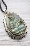 Necklaces Labradorite Teaching Buddha Necklace JN811