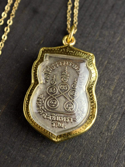 Necklaces Meditating Buddha Thai Amulet Necklace JN731