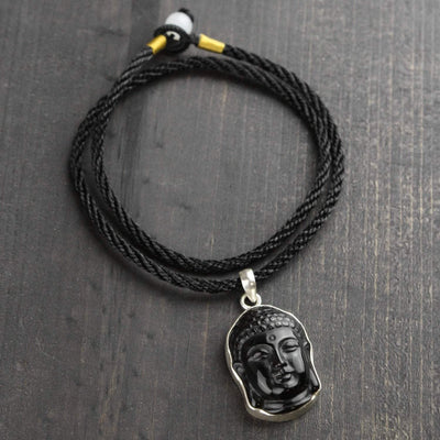 Necklaces Onyx Protection and Balance Buddha Necklace JN725