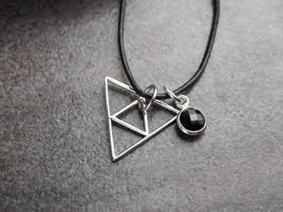 Necklaces Onyx Sacred Geometry Necklace JN736
