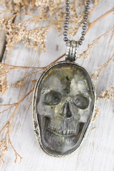 Necklaces Powerful Protector Skull Necklace JN672