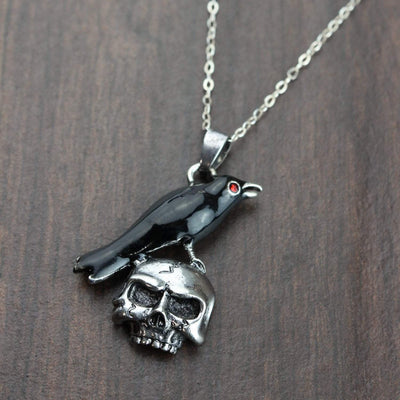 Necklaces Raven and Skull Impermanence Necklace JN743