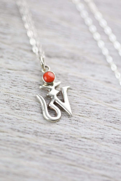 Necklaces Sacred Om Pendant Necklace JN728
