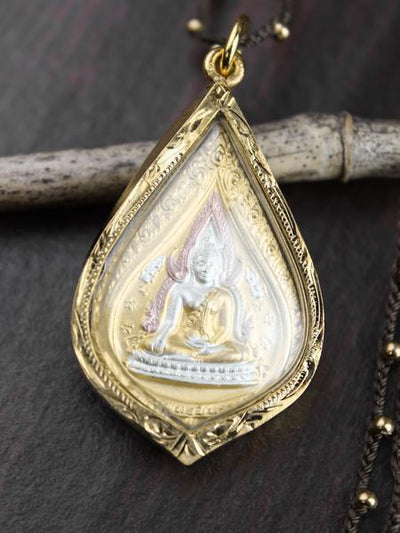 Necklaces Thai Golden Buddha Amulet Necklace jn759