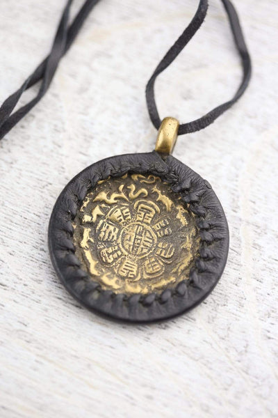 Necklaces Tibetan Astrology Calendar Necklace JN733