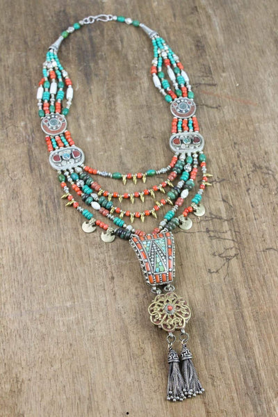 Necklaces Tibetan Necklace of Good Fortune JN653
