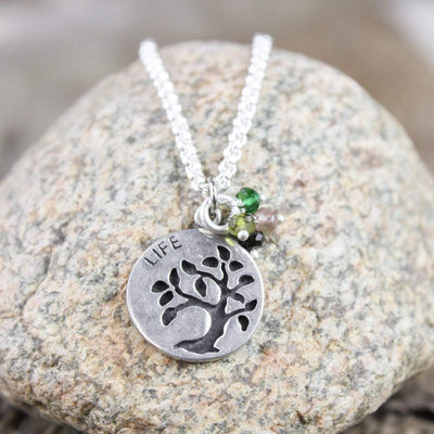 Necklaces Tiny Tree of Life Dharma Necklace JN694