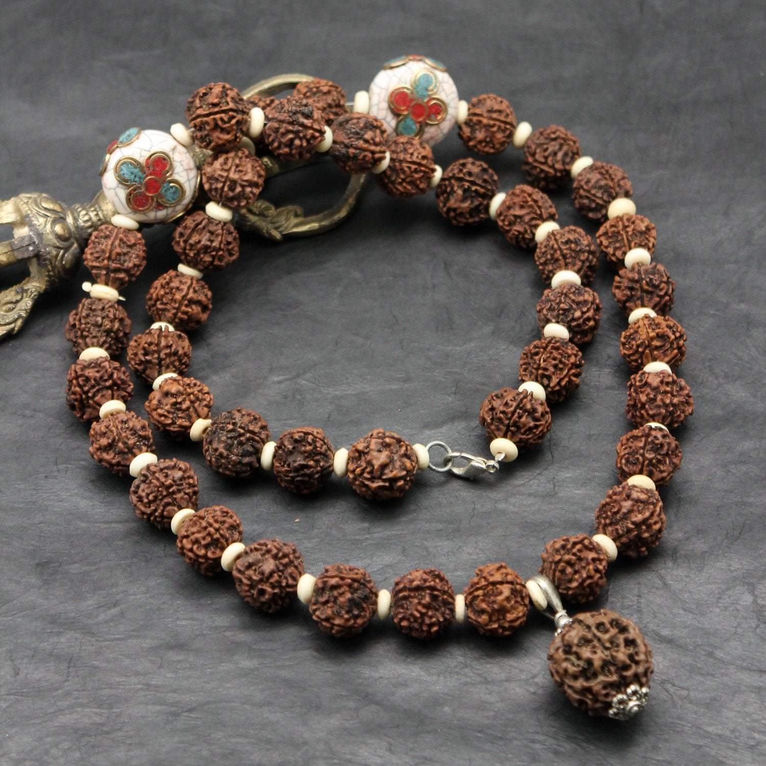 Necklaces Traditional Giant Rudraksha Necklace JN753