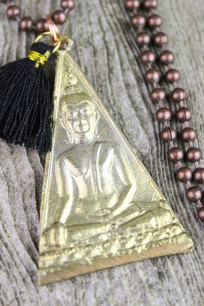 Necklaces Triangle Shakyamuni Thai Pendant Necklace JN660