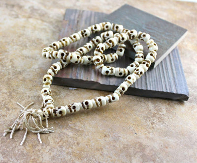 New Items,Skulls,Men's Jewelry Default Fine Quality 50 Bead Skull Mala ml099