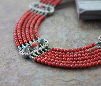 One of a Kind,Jewelry,New Items Default One of a Kind Vintage Coral Necklace jn101