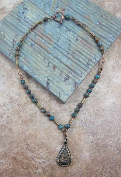 One of a Kind,Jewelry,New Items,Gifts,Tibetan Style Default Handmade Blue Sky Necklace by Christy Cohen jn065
