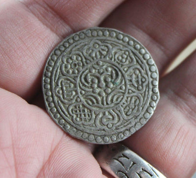 One of a Kind,New Items,Tibetan Style Default Tibetan Silver Coin Circa 1940's rare3
