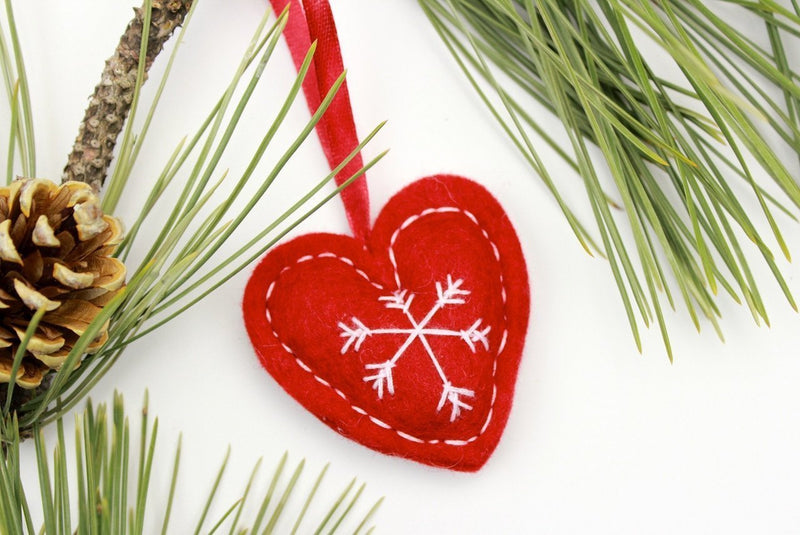 Ornaments Default Fair Trade Red Heart Ornament ho023red