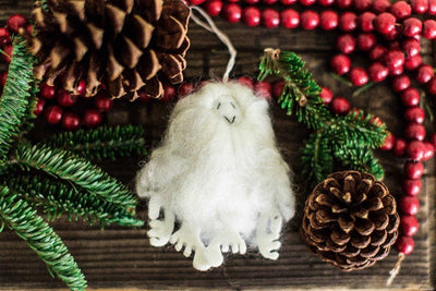 Ornaments Default Felt Yeti Ornament ho003