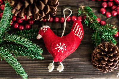 Ornaments Default Hen Ornament ho010-red