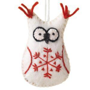 Ornaments Default Snowflake Owl Ornament ho004
