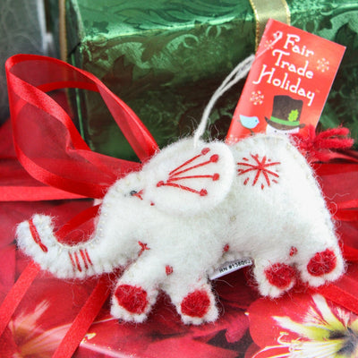 Ornaments Fair-Trade Wool Elephant Ornament HO025